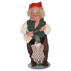 Vintage Doll Gepetto Pinocchio Faith Wick Dolls  WONDERFUL