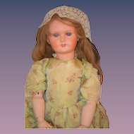 Antique Doll French Papier Mache Big Girl Compo Body