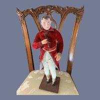 WONDERFUL Doll Napolean Doll Artist Made Papier Mache Head