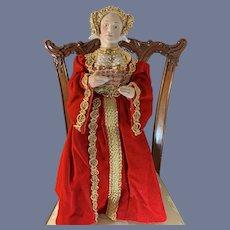 Wonderful Portriat Doll  Anne of Cleves Wife of Henry VIII Molded Bonnet Porcelain Kathy Redmond