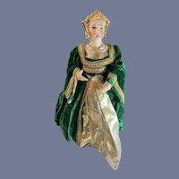 Vintage Doll Artist Doll Anne Boleyn Queen of England King Henry VIII Wife Kathy Redmond