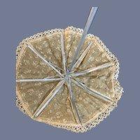 "Sweet Petite Doll Parasol Umbrella Fancy 9"" Tall"