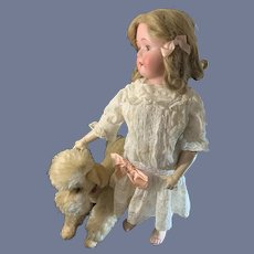 Antique Doll Bisque  Doll Sweet Face Glass Eyes Gans & Seyfarth GS&W