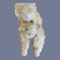 Vintage Steiff Poodle Dog Mohair Jointed LARGE Doll Display