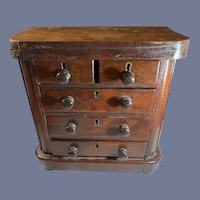 Antique Doll Miniature Wood Chest Fashion Doll Size