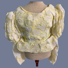 Vintage Doll Lace Over Fancy Blouse Top