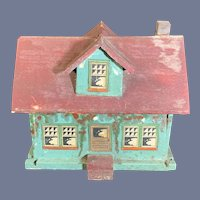 Old Wood & Litho Miniature Faux Dollhouse For Dollhouse Sweet
