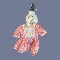 Sweet Vintage Doll Dress on Petite Wood Hanger