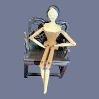 Vintage Wood Carved Grodnertal Jointed Doll House of Seven Gables PK Shillaber
