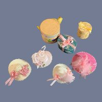 Wonderful Miniature Artist Doll Hat Boxes and Hats Dollhouse Doll Store Signed