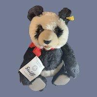 Vintage  Panda Bear Mohair Steiff EAN 0178/35 Jointed Button Tag Chest Tag Panda-Bar