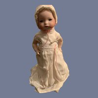 Antique Bisque Doll Baby Armand Marseille 341 Composition Body Dressed