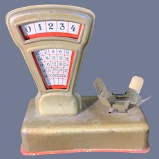 Old Metal Tin Miniature Doll Scales Works! Dollhouse