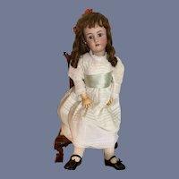 "Antique Bisque Doll Big Beautiful CHunky Body Heinrich Handwerck Simon Halbig 32"" Tall Body Stamp"