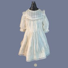 Antique Doll Dress White W/ Undergarments Sweet