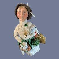 Byers Choice Doll Figurine in Original Box Caroler Victorian Shopper