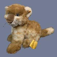 Wonderful Steiff Cub Leo Lion EAN 2897/30 W/ Button Tag & String Tag