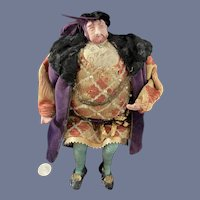 Old King Henry The VIII Of England Doll In Period Clothing Fab Costume