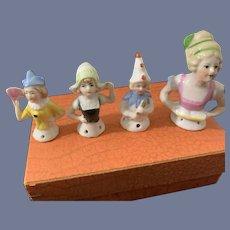 Wonderful Old Set of Half Doll's China Head Doll Lot