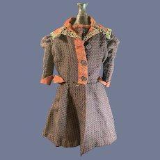 Wonderful Old Doll Dress Beaded Collar