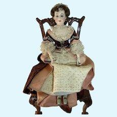 "WONDERFUL Doll Vintage Wood Carved Jointed LARGE  Harold F Scott Pegged Dressed 26 1/2"" Signed"