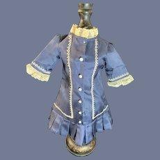 Sweet Vintage Doll Dress W/ Lace Trim Pleats French Market