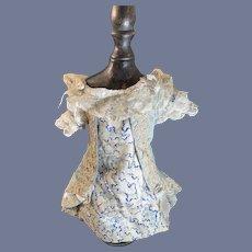 Sweet Doll Dress W/ bustle Lace Trim Gorgeous French Market