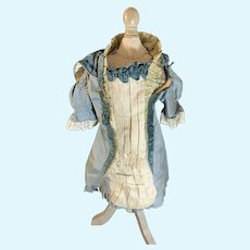 Old Doll Dress French Market Fancy Lace Drop Waist Flap Collar