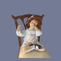Vintage Wax Doll Jamie L Williamson J L Williamson Wax Doll Beautiful One of a Kind Signed Dated 1987 Artist