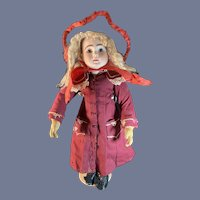 """Antique Doll Steiner Figure A Bisque Lever Eyes Closed Mouth BeBe A 11 18"""""""