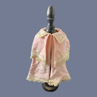 Wonderful Old Fancy Double Doll Cape W/ Embroidery