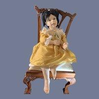 Wonderful Doll J L Williamson Large Artist Doll Signed