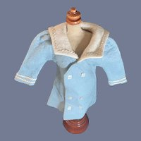 Sweet Vintage Sailor Coat For Doll Double Breasted Jacket