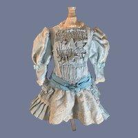 Wonderful Doll Dress Drop Waist Lace Puckered Center French Market