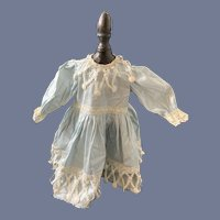 Vintage French Doll Dress W/ Tag Gorgeous Fancy Lace Trim
