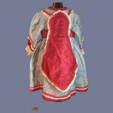 Wonderful Vintage Doll Dress Fancy French Market Lace Trim