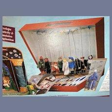 Wonderful Vintage Fantasy Puppet Theatre Mint in Box Czech W/ 15 Puppets