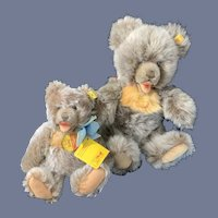 Vintage Zotty Teddy Bear Set Button Tag Chest Tag TWO Bears Austria 0300/22 and 0302/30 Tags