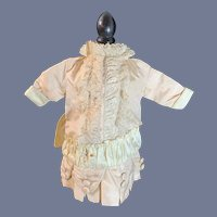 Wonderful Doll Dress French Market Fancy Covered Buttons Drop Wasit
