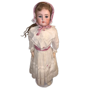 """Antique Doll Bisque Heinrich Handwerck Simon & Halbig Doll Large Big Girl 29 1/2"""" Tall Body Stamped"""