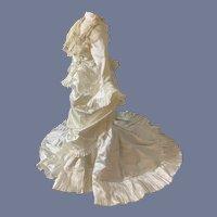 FAB Doll Dress Fashion Doll French Market  Long Train Lace