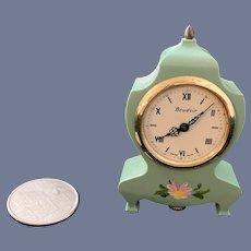 Wonderful Miniature Mantle Clock Swiss Made Eluxa Doll Dollhouse