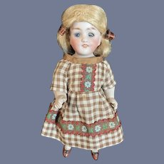 Antique Doll All Bisque Kestner 150 Dressed Petite Size Glass Eyes Miniature