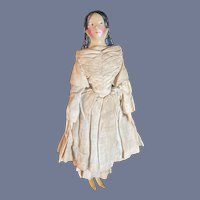 Antique Doll Milliner's Model All Original FAB Antique Clothes Papier Mache