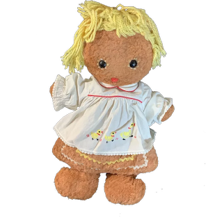 Sweet Doll Vintage Cloth Gingerbread Girl Knickerbocker Stuffed Doll
