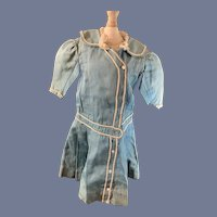 Antique Doll Dress Sailor Wonderful Drop Waist SWEET