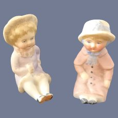 Old Doll Miniature Bisque Dolls Figurine Piano Baby Dollhouse Sweet