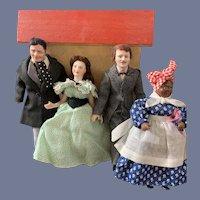 Vintage Gone With The Wind Doll Set Rhett Butler Scarlett