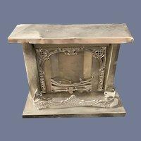 Old Doll Miniature Fireplace Dollhouse Metal Ornate
