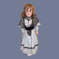 "Antique Bisque Doll Simon & Halbig Heinrich Handwerck 5 26"" Tall Dressed Stamped Body"